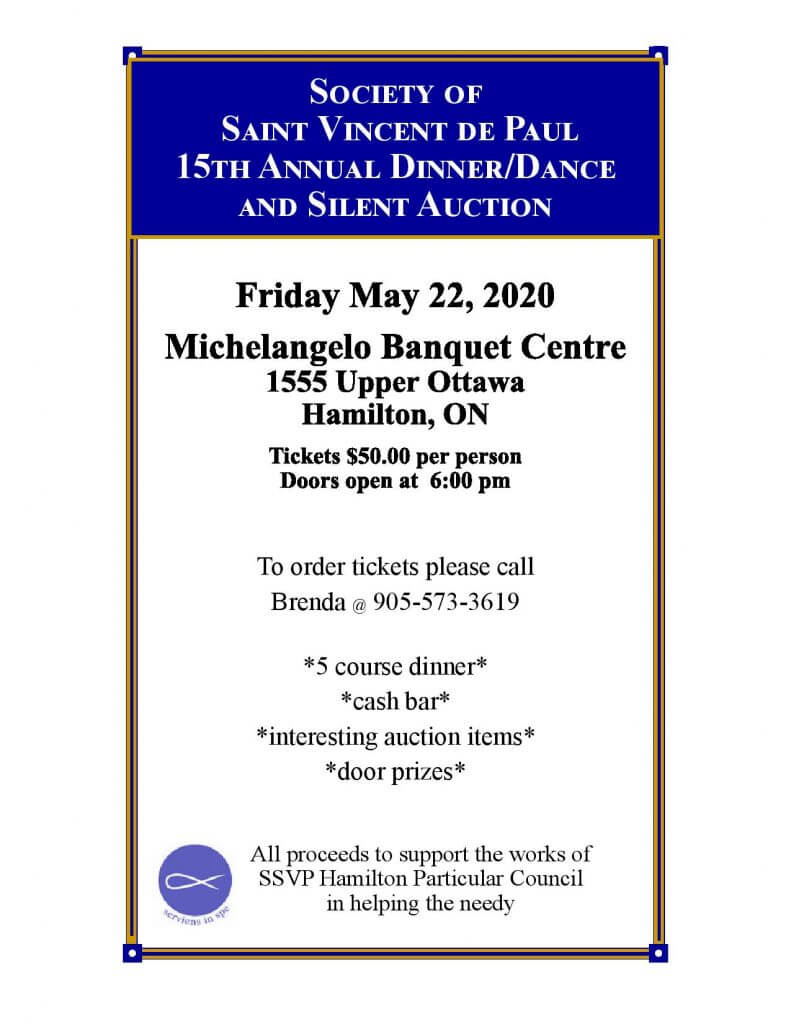 SSVP 15th Annual Dinner/Dance And Silent Auction